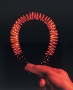 Värme element med kalla ändar